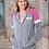 Thumbnail: EE396z Ladies Colorblock Zip Hoodie w/ Zodiac Logo