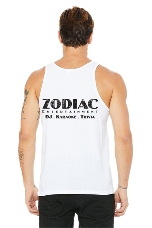 EB3480z Men's Jersey Tank w/ Full Back Zodiac Logo