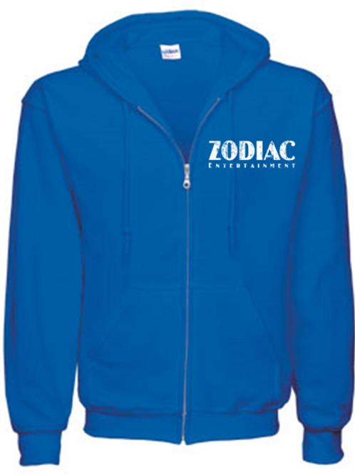 EG343z Men's Full Zip Hooded Sweatshirt-Royal w/ Zodiac Logo