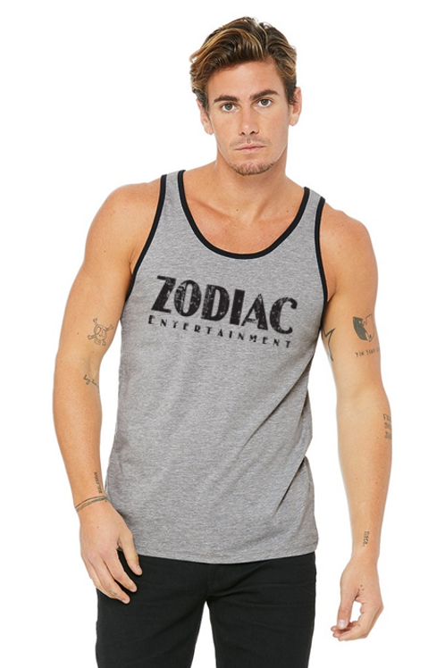 EB3480z Men's Jersey Tank - Athletic Heather/Blk w/ Zodiac Logo