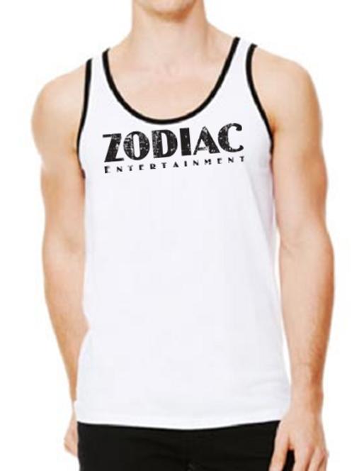 EB250z  Men's Jersey Tank - White/Black w/ Zodiac Logo