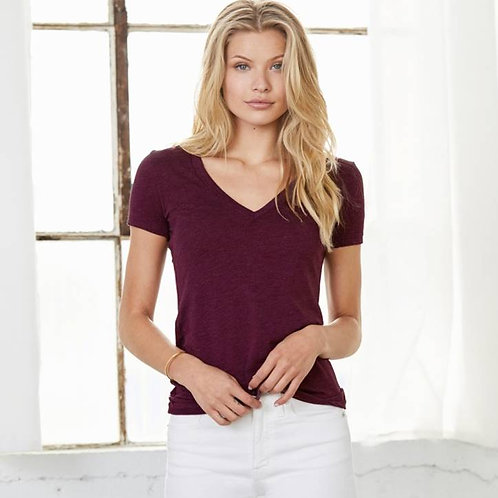 EB8435 Ladies Deep V-Neck Tees