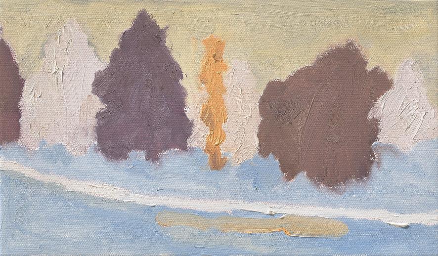 『Motherhood-느린 노래가 지나가는 길_2』27.3 x 16.0 cm, Oil on canvas, 2020
