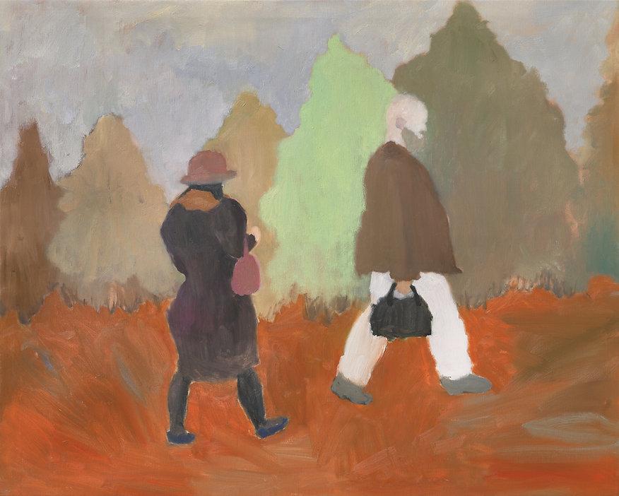 『다시, 그녀에게_4』130.3 x 89.4 cm, Oil on canvas, 2020