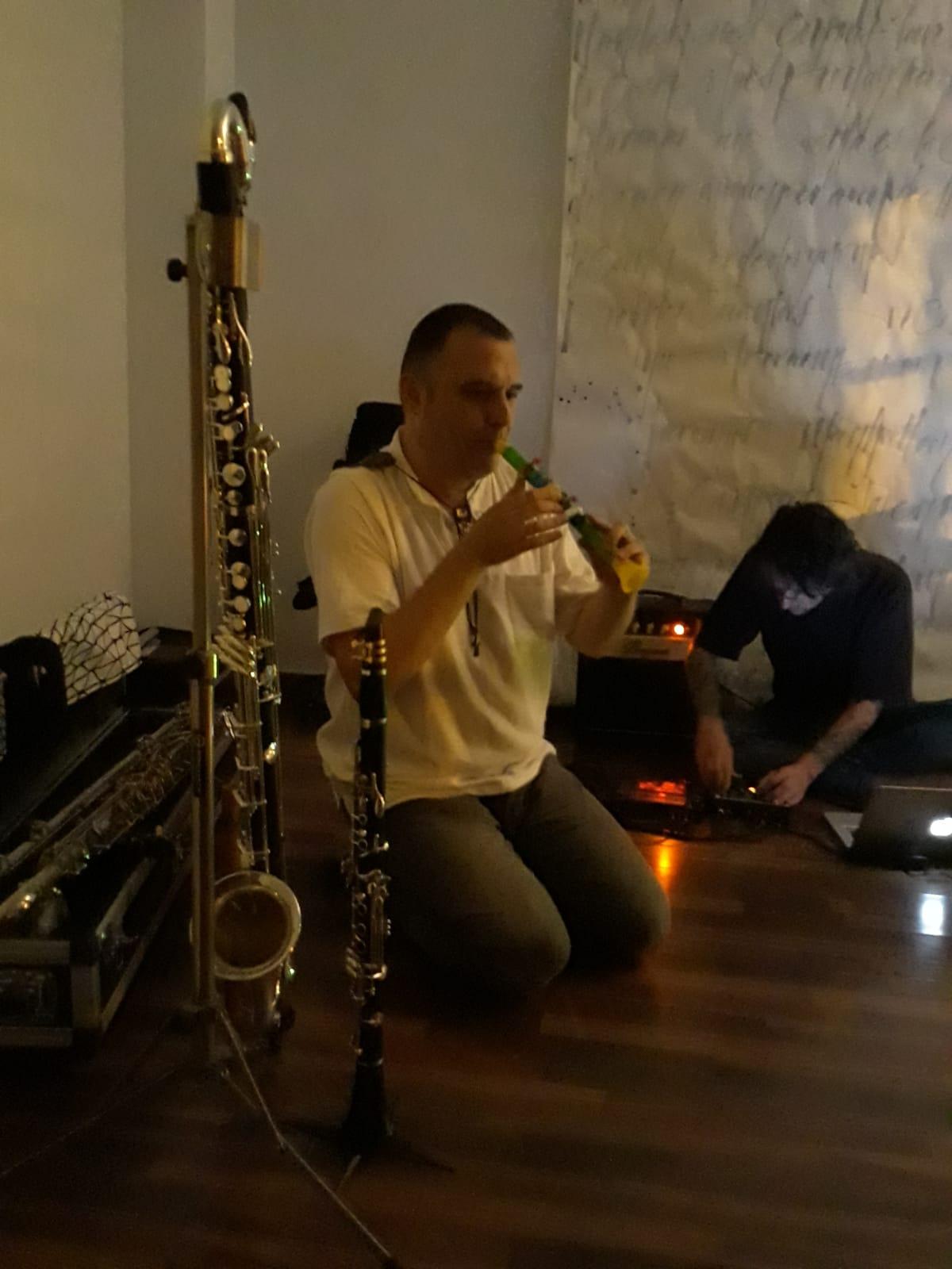 Con el primer clarinete de David...