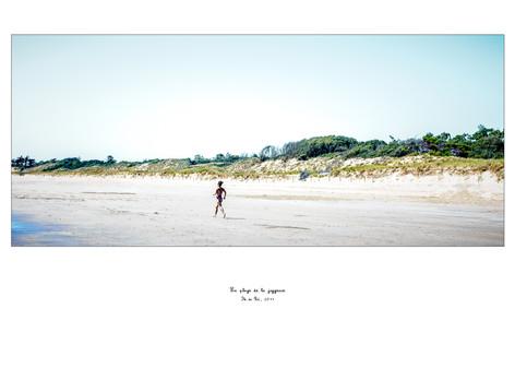 La plage de la joggeuse
