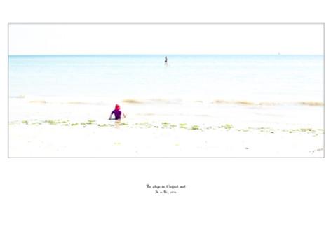 La plage de l'enfant seul