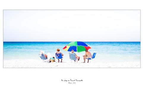 La plage du parasol tranquille