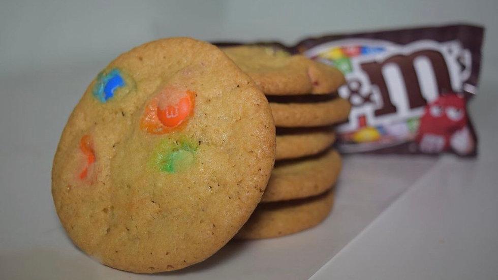 One Dozen M&M Cookies