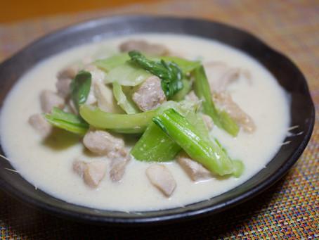 チンゲン菜のクリーム煮