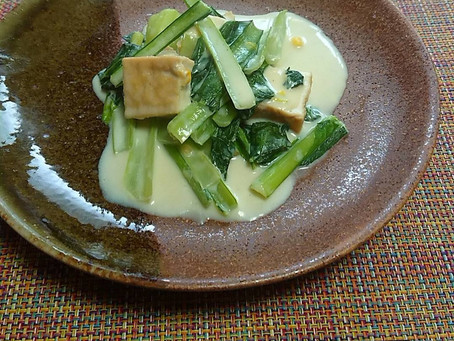 小松菜のクリーム風煮
