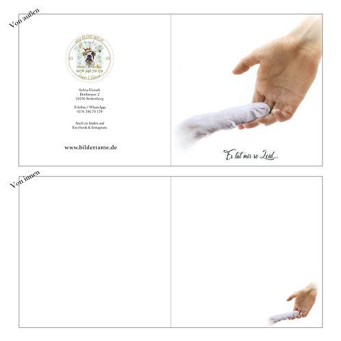 Trauerkarte / Klapp-Karte 'Es tut mir so Leid'