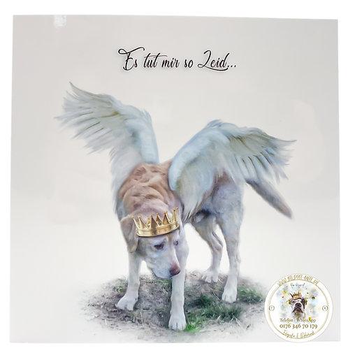 Trauerkarte / Klapp-Karte Engel 'Es tut mir so Leid'