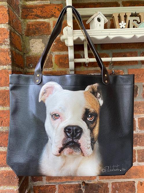 "Tasche ""PetBag""  Bildertante d.O.  Motiv: Old English Bulldog"