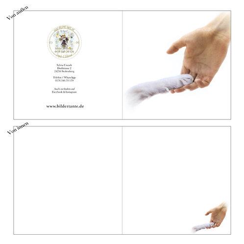 Trauerkarte / Klapp-Karte 'ohne Text'