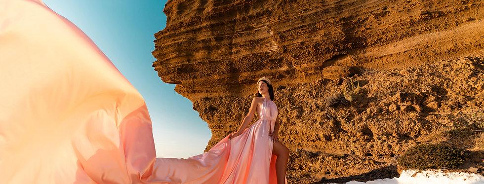 52. Peach dress