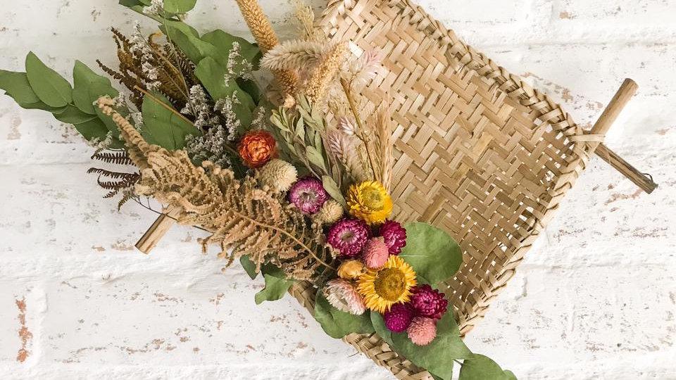 peneira quadrada flores secas mariana