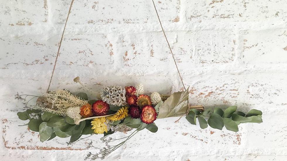 pendente (hanger)  flores secas p tina