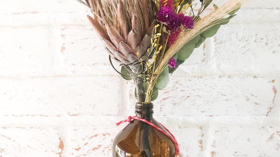 garrafa âmbar 500ml +protea ciça