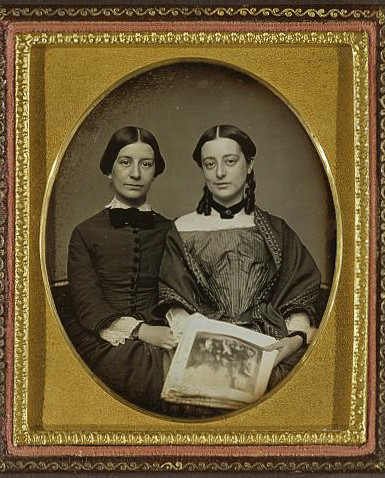 Mary Susan and Emily Everett, photo by L. H. Hale, ca 1852