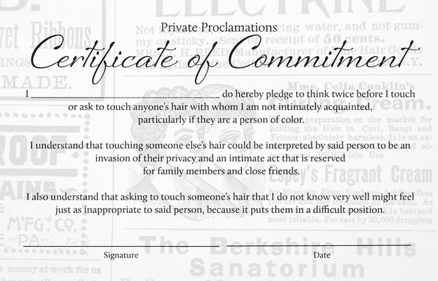 Certificate of Commitment from Part Three