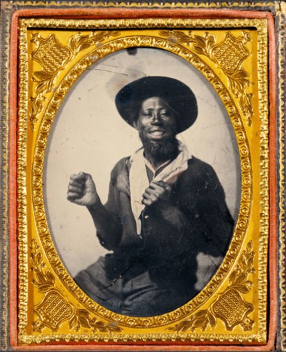 Ambrotype-unidentified-African-American-man-boxing-pose-1860
