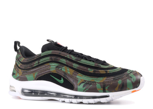 sports shoes d6c2f fa7f0 The Nike Air Max 97 is a Nike running shoe designed by Christian Tresser.  It was inspired by Japan s high-speed Bullet Trains and features a mix of  leather, ...