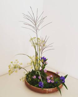 Landscape style Ikebana