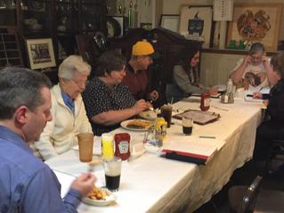Pre-meeting feasting