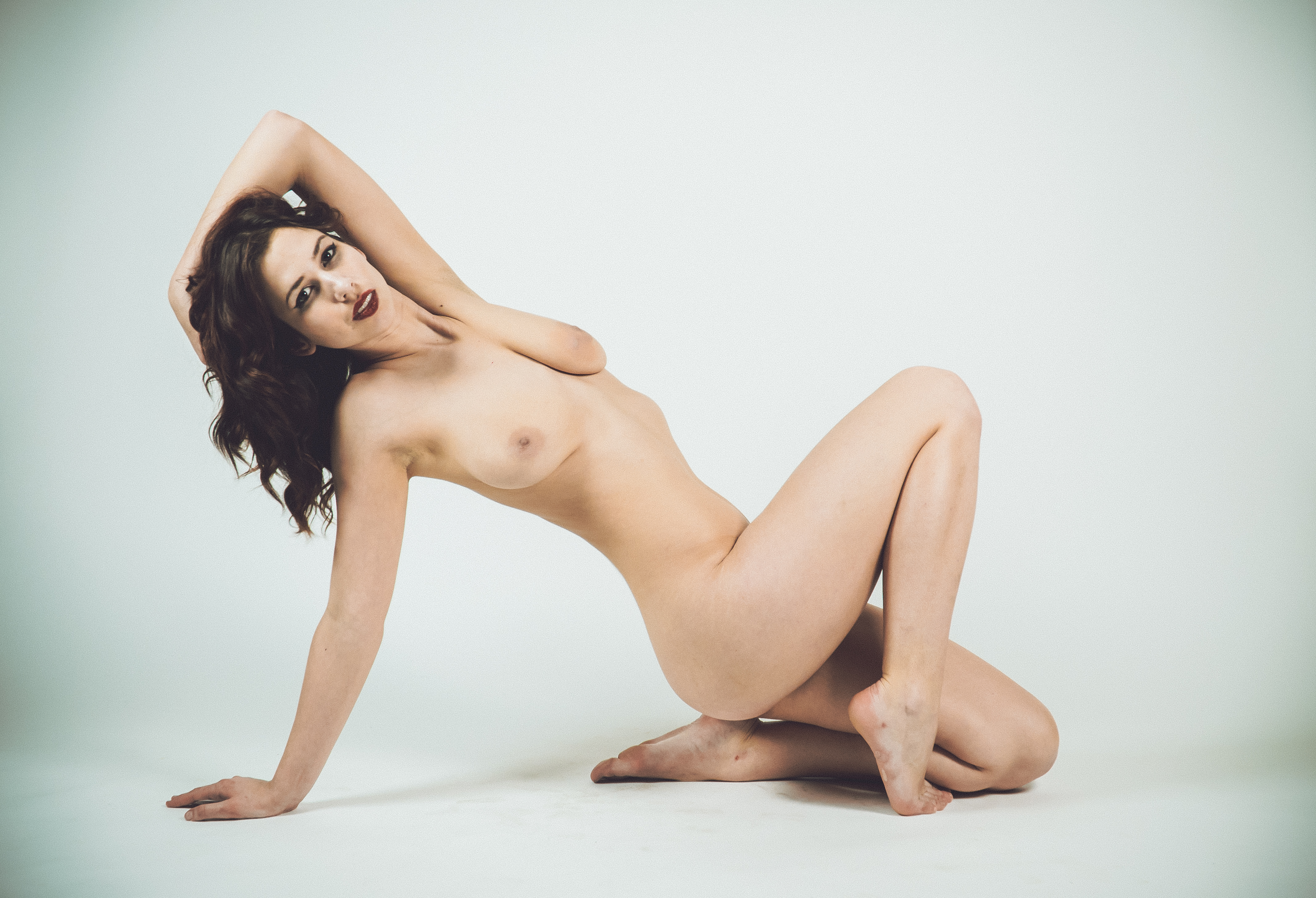Nude_back yoga Pose