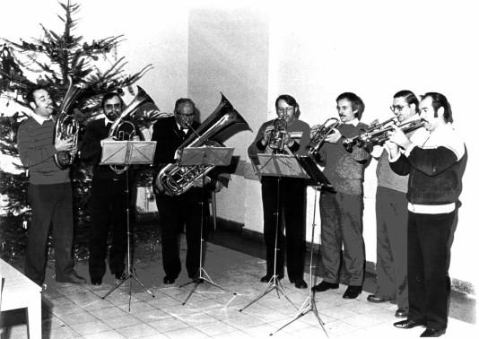 Von links: Jochen Förster, Kurt Kostbar, Karl Klever ( † ), Siegfried Gleue, Günther Wilkening, Alfred Pekrul ( † 24.11.1994 ), Ewald Schultz