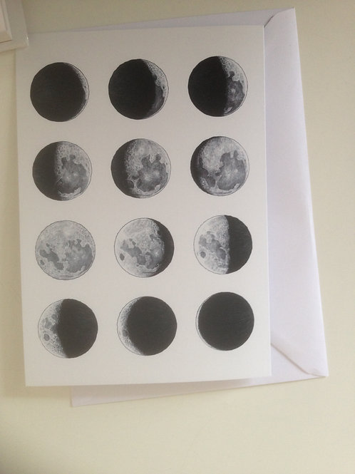 Phases of the Moon cards - sold in 10s