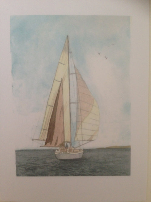 Sailing Away - postcards sold in 10s