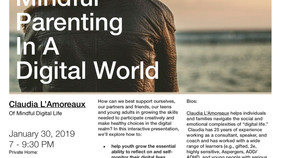 "Special Event! ""Mindful Parenting in a Digital World"""