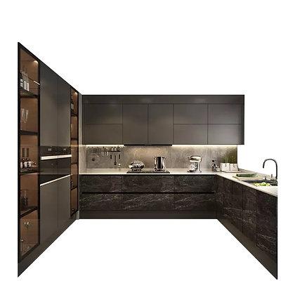 Luxury Black Kitchen Cabinet