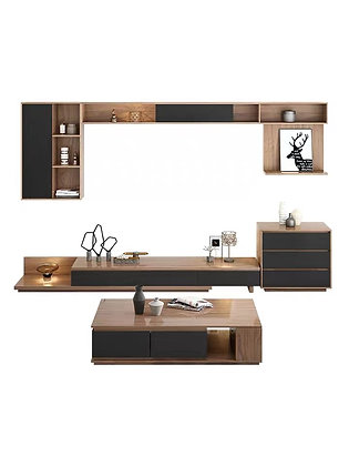 Urban Mood Wall Mounted TV Console with Coffee Table