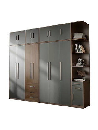 6 Door Bedroom Wardrobe Simple Wooden