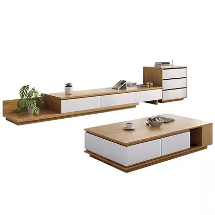 Muji TV Console and Side Table Set