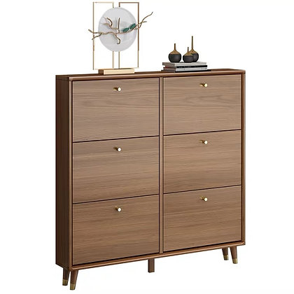 Solid Wood Doorway Access Ultra Thin Shoes Cabinet