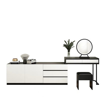 Contemporary Dressing Table With Storage Cabinet