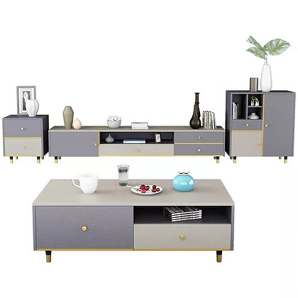 Partysu TV Console Cabinet and Coffee Table Set