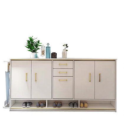 White Solid Wood Shoes Cabinet