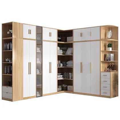 Modern 6 Door Wardrobe Bedroom Drawer Cabinet