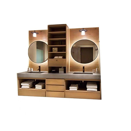 Modern Country Couple Bathroom Cabinet