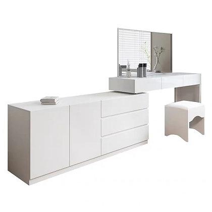 Minimalist White Dressing Table Bedroom Drawer