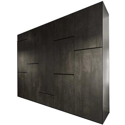 Classic Black Build In Bedroom Wardrobe