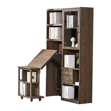 Wooden Concealed and Folding Home Office Desk