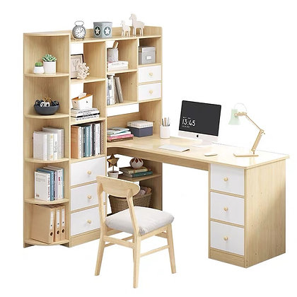 Simple Computer Desk With Book Shelf