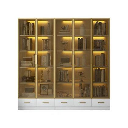 Glass Door Living Room Display Cabinet Book Shelf