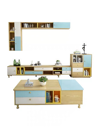 Idyllic TV Console Drawer and Coffee Table Set